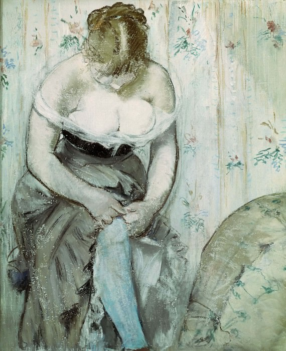 At the Toilet. Édouard Manet