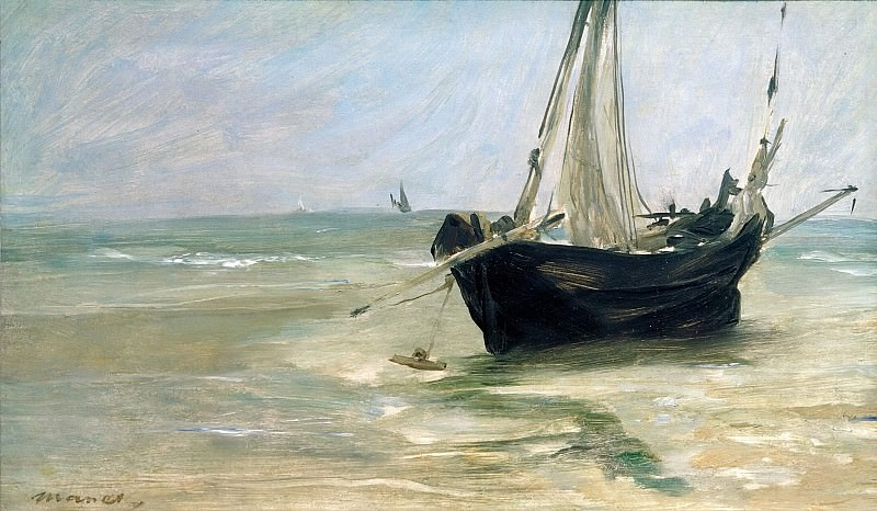 Fishing Boat on the Beach at Berck. Édouard Manet