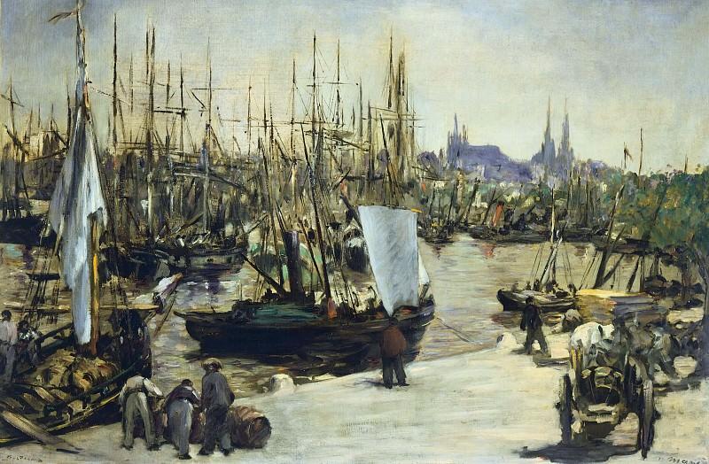 The Port of Bordeaux. Édouard Manet