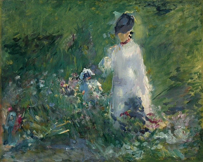 Young Woman among the Flowers. Édouard Manet