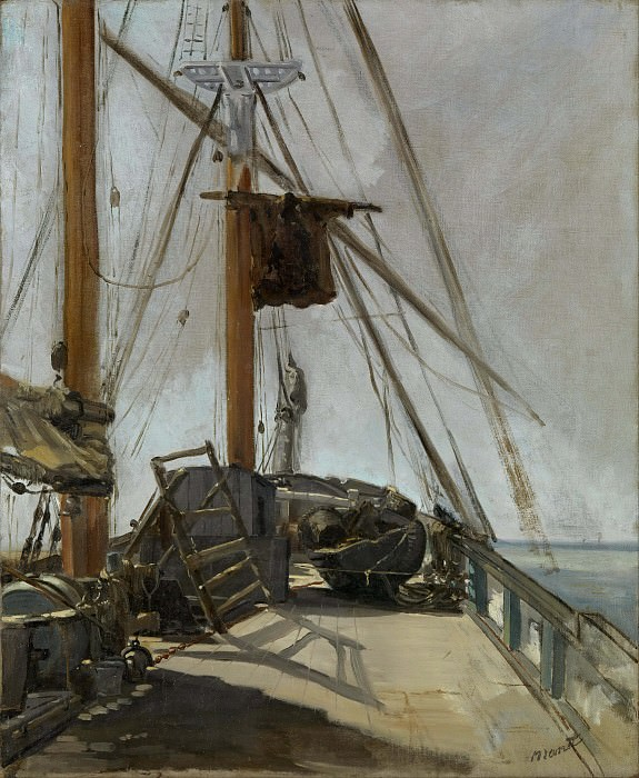 The ship's deck. Édouard Manet