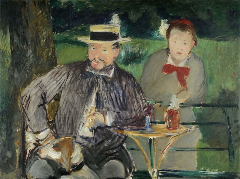 Portrait of Ernest Hoschede and his wife Marthe. Édouard Manet