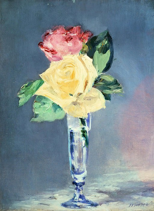 Roses in a Champagne Glass. Édouard Manet