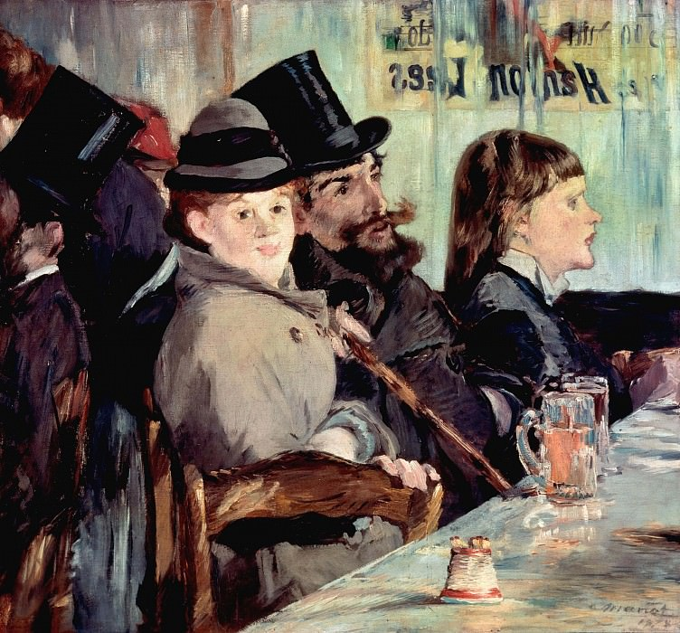 In the Cafe. Édouard Manet
