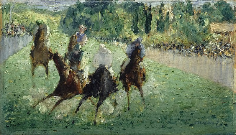 At the Races. Édouard Manet