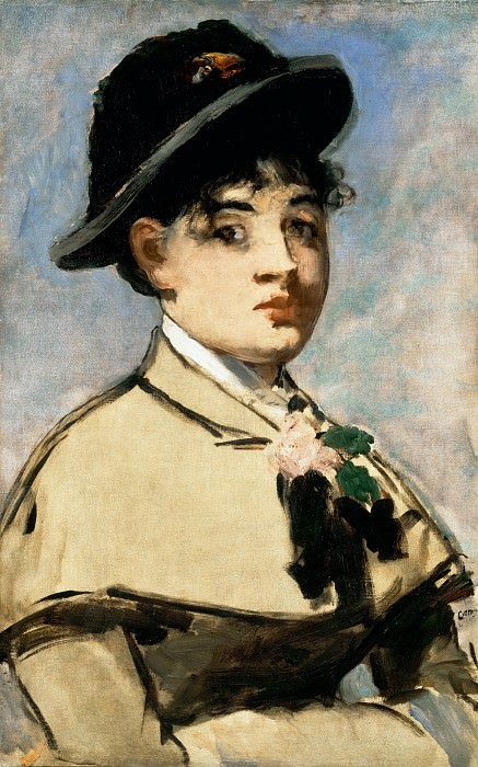 Young woman with a cap. Édouard Manet