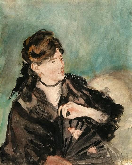Portrait of Berthe Morisot with a Fan. Édouard Manet