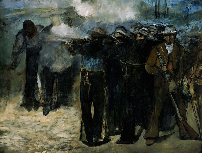 The Execution of the Emperor Maximilian. Édouard Manet