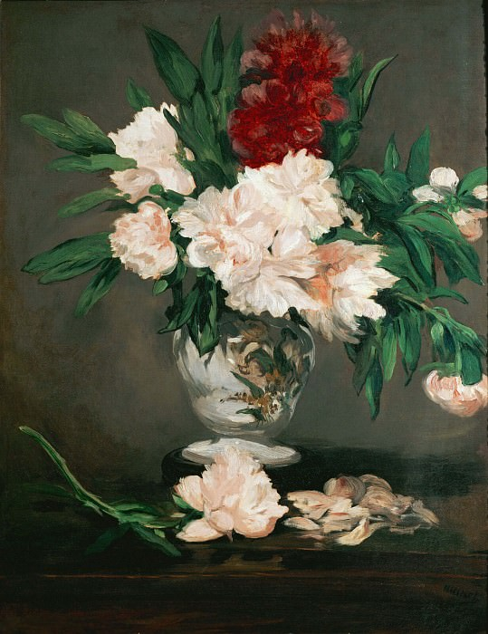 Vase with peonies. Édouard Manet