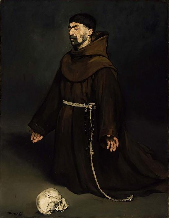 Monk at Prayer. Édouard Manet