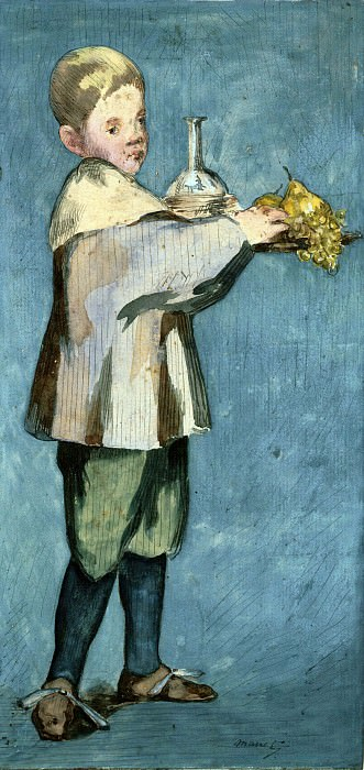 Boy Carrying a Tray. Édouard Manet