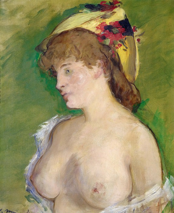 The Blond with Bare Breasts. Édouard Manet