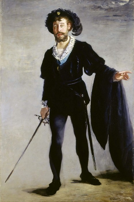Portrait of Jean-Baptiste Faure in the role of Hamlet. Édouard Manet
