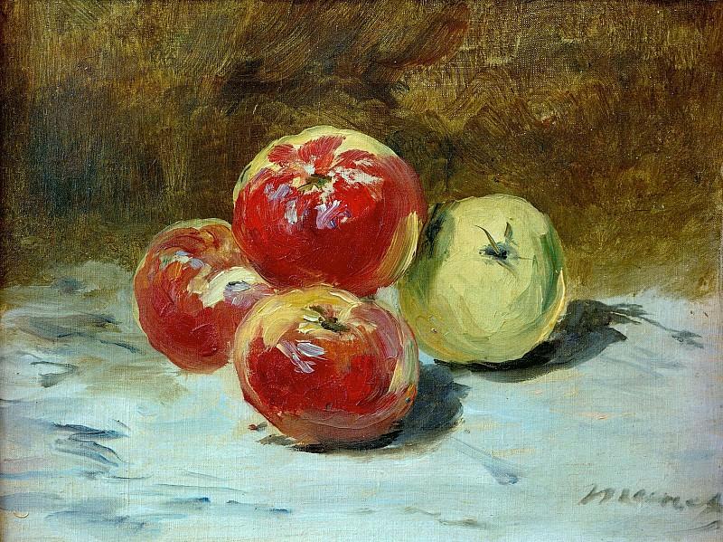 Four apples. Édouard Manet
