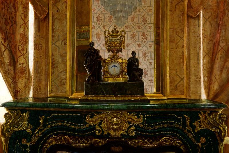 Malachite fireplace in the boudoir of the Empress. Anohin Nikolay