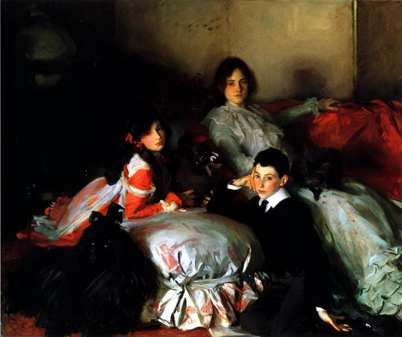 Essie, Ruby and Ferdinand, Children of Asher Wertheimer. John Singer Sargent