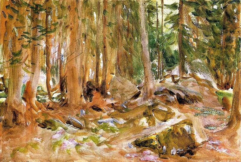 Pine Forest. John Singer Sargent