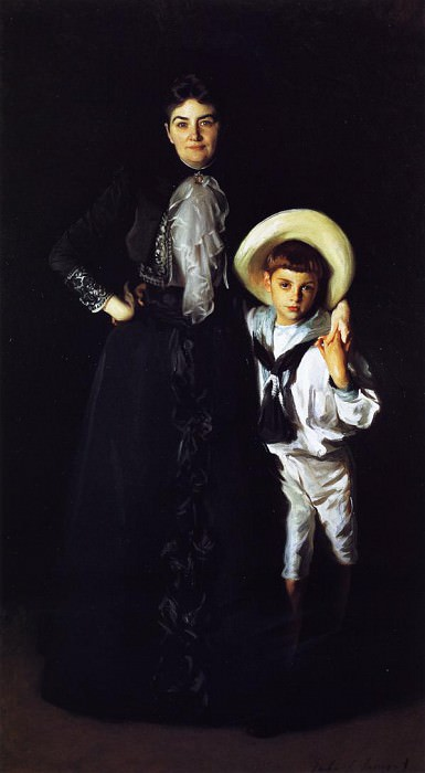Mrs. Edward Davis and her Son, Livingston. John Singer Sargent