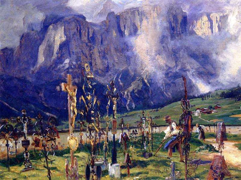 Graveyard in the Tyrol. John Singer Sargent