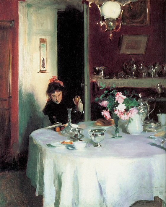 The Breakfast Table (Violet Sargent). John Singer Sargent