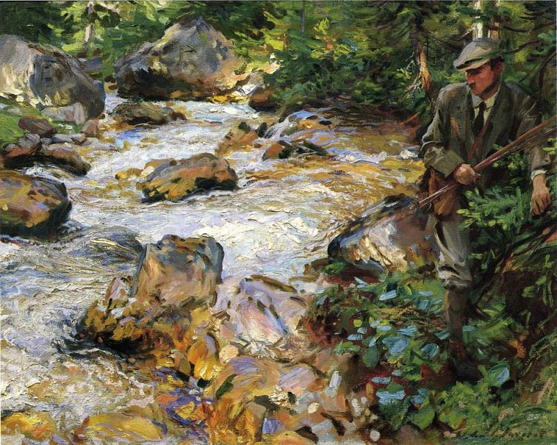 Trout Stream in the Tyrol. John Singer Sargent