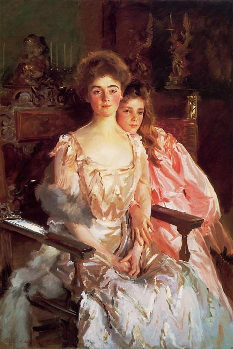 Mrs. Fiske Warren and Her Daughter Rachel. John Singer Sargent