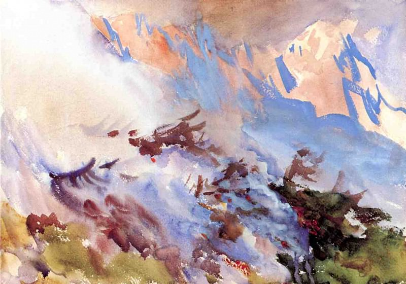 Mountain Fire. John Singer Sargent