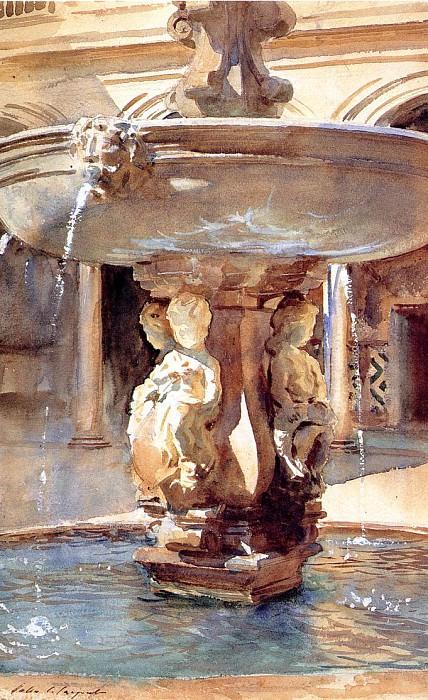 Spanish Fountain. John Singer Sargent