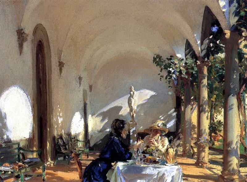 Breakfast in the Loggia. John Singer Sargent