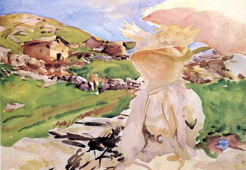 In the Simplon Pass. John Singer Sargent