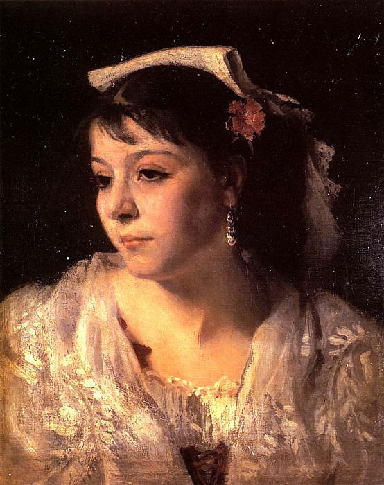 Head of an Italian Woman. John Singer Sargent
