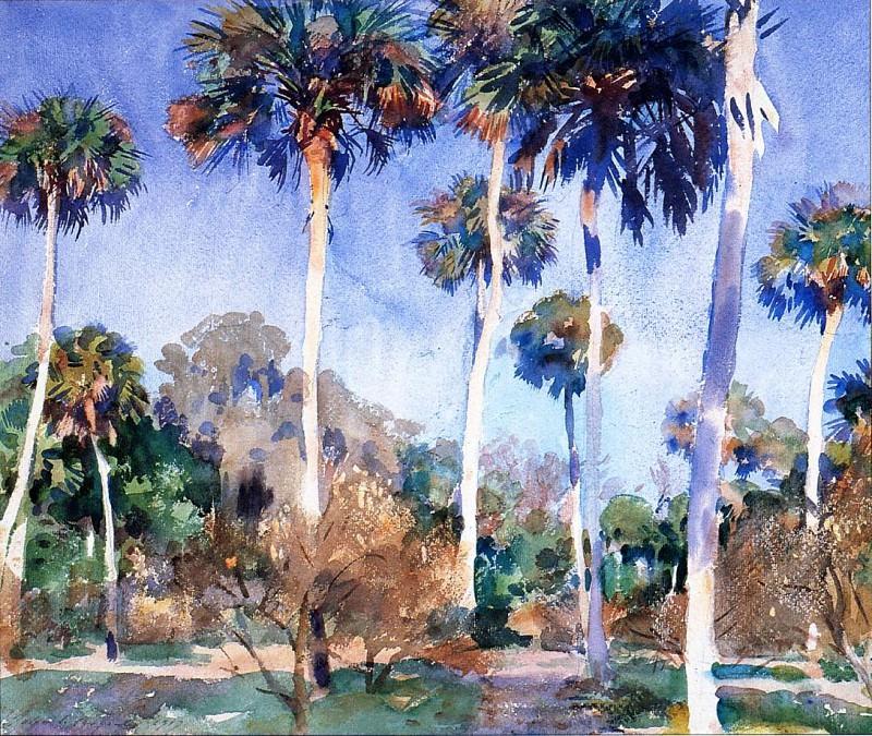 Palms. John Singer Sargent