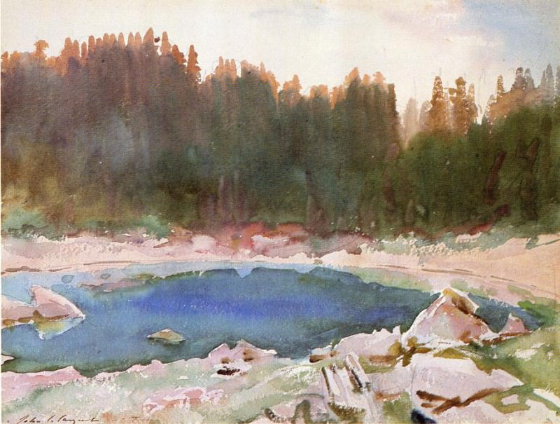 Lake in the Tyrol. John Singer Sargent