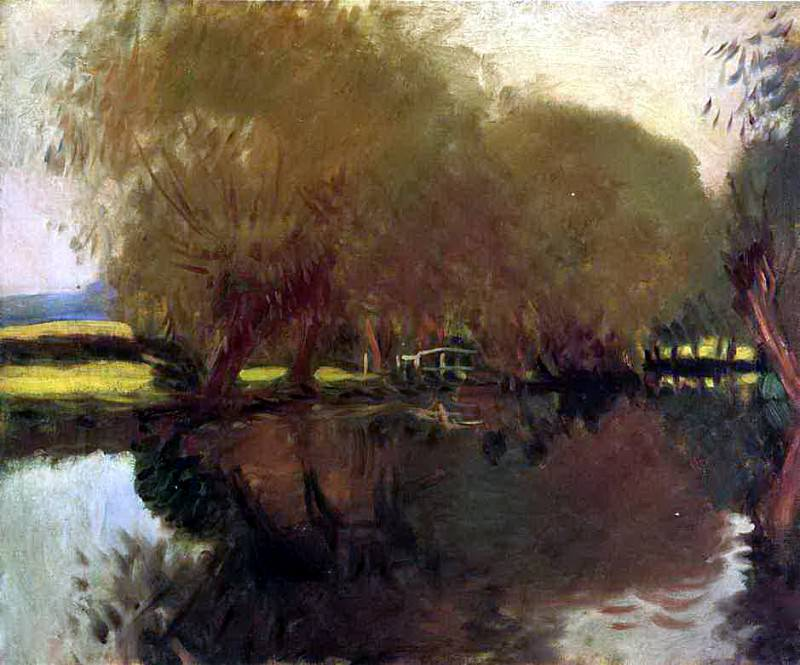A Backwater at Calcot Near Reading. John Singer Sargent