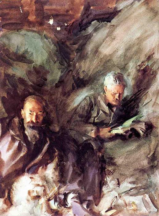 In a Hayloft. John Singer Sargent