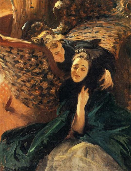 Violet Sargent and Flora Priestley. John Singer Sargent