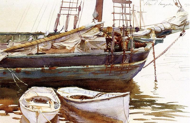 Schooner, Catherine, Somesville, Maine. John Singer Sargent