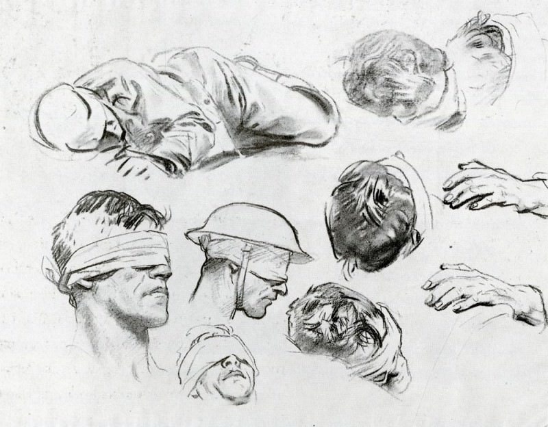 Heads, Hands, and Figure. John Singer Sargent