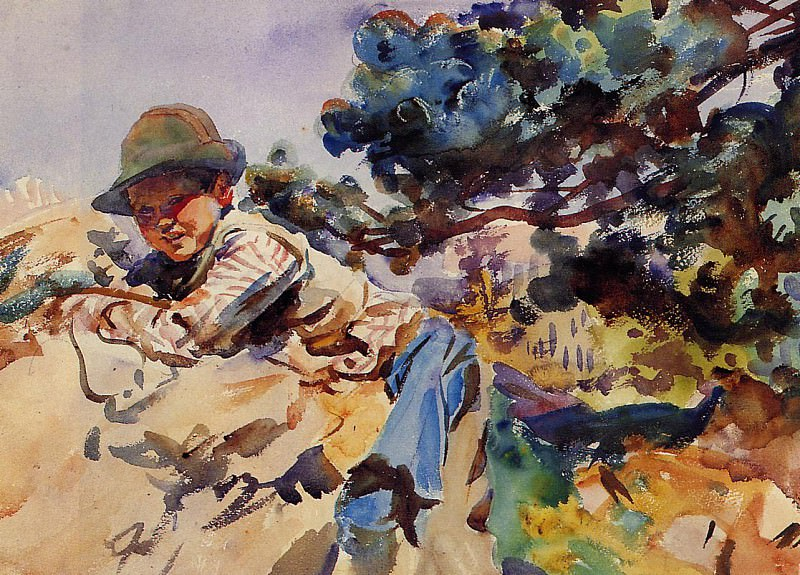 Boy on a Rock. John Singer Sargent