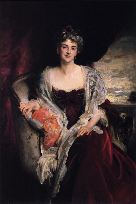 Mrs. Augustus Allusen (Osma Mary Dorothy Stanley). John Singer Sargent