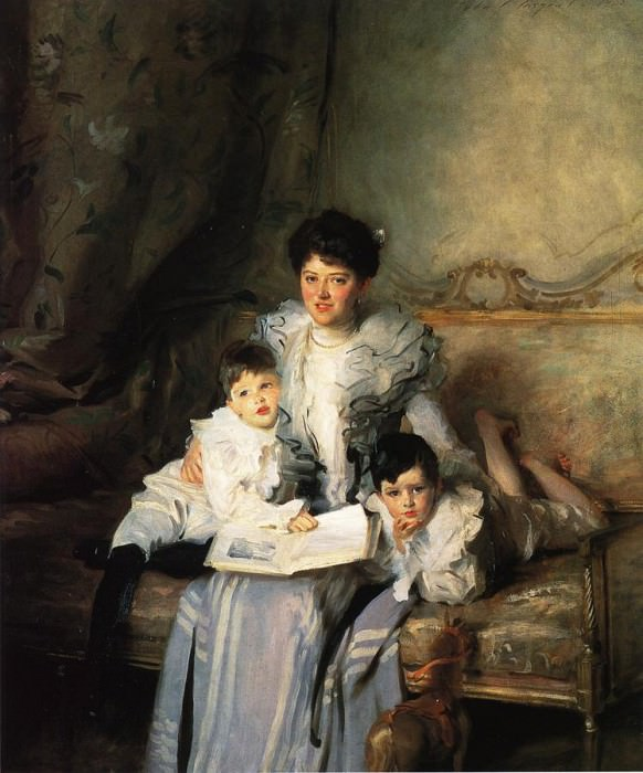 Mrs. Arthur Knowles and her Two Sons. John Singer Sargent