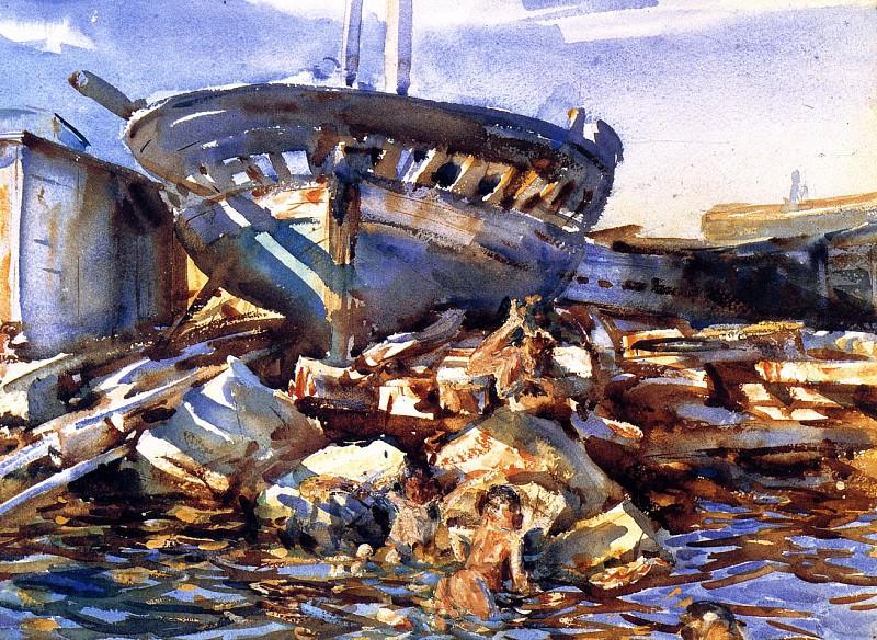 Обломки судов и брошенные грузы. Джон Сингер Сарджент