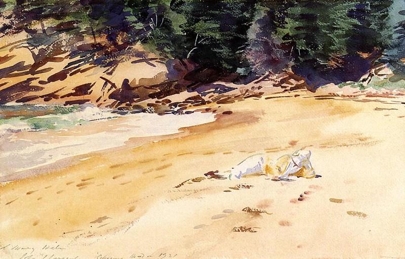 Sand Beach, Schooner Head, Maine. John Singer Sargent