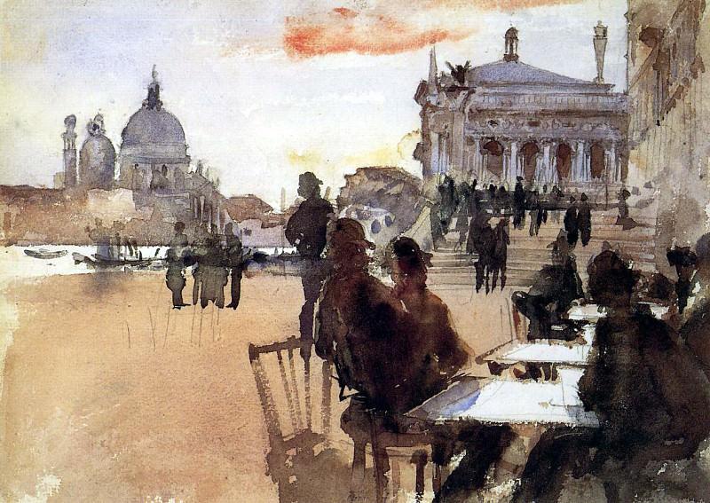 Cafe on the Riva degli Schiavoni. John Singer Sargent