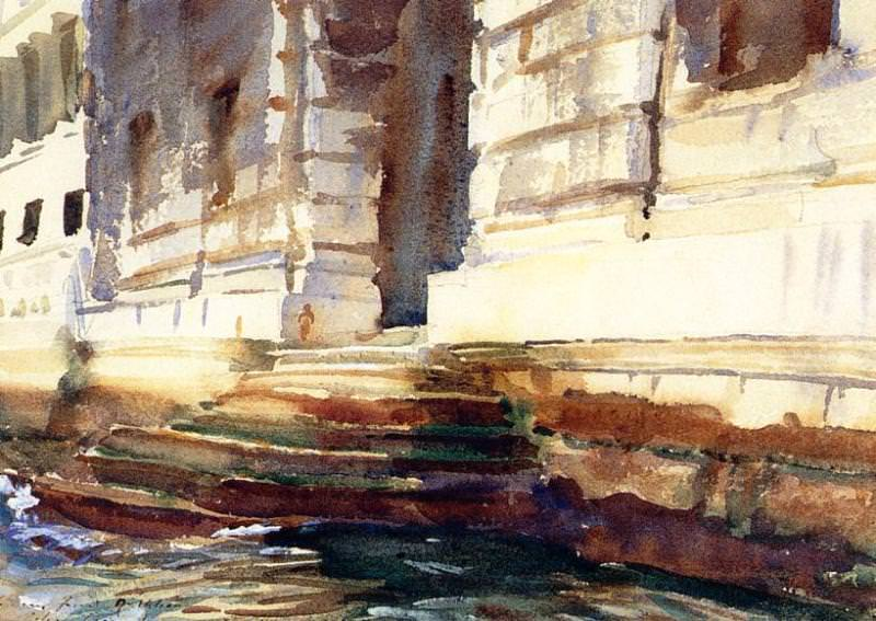 Steps of a Palace. John Singer Sargent