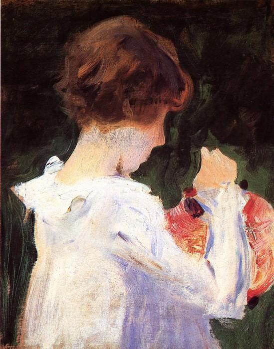 Study of Polly Barnard for. John Singer Sargent