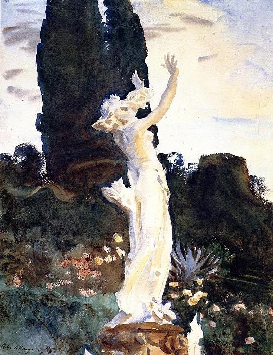Statue of Daphne. John Singer Sargent