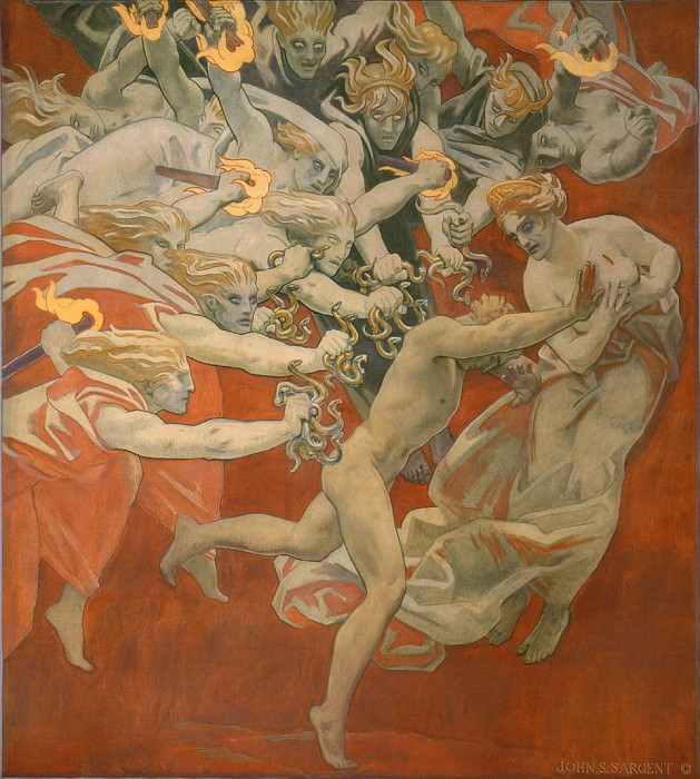 Orestes Pursued by the Furies. John Singer Sargent