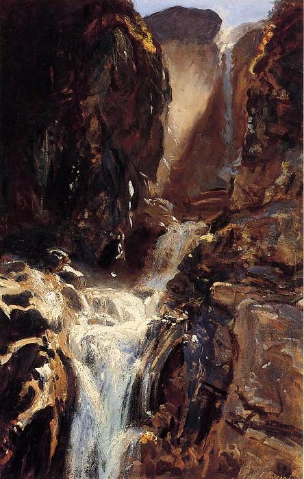 A Waterfall. John Singer Sargent