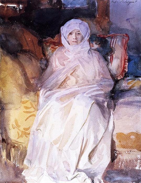 Mrs. Gardner in White. John Singer Sargent